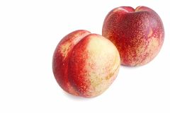 Fresh Nectarine on White Background Stock Photography