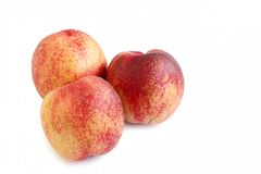 Fresh Nectarine on White Background Royalty Free Stock Images