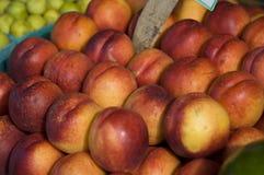 Fresh nectarines. At the Farmer's Market Stock Photo