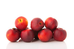 Fresh nectarines Stock Photography