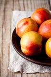 Fresh nectarines Royalty Free Stock Photos