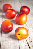 Fresh nectarines Royalty Free Stock Photography