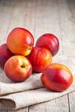 Fresh nectarines Stock Image