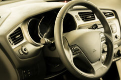 Fresh and new car interior Royalty Free Stock Images