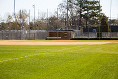 Fresh New Grass on Baseball Field Royalty Free Stock Photography