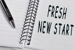 Fresh new start words Stock Images