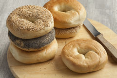 Fresh New York bagels Stock Photo