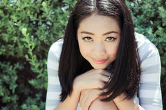 Fresh and nice day of a woman. Fresh and nice day of Asian woman stock image