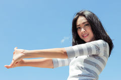 Fresh and nice day of a woman. Royalty Free Stock Photos