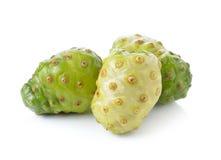 Fresh noni fruit on white background Stock Photography