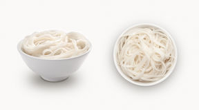 Fresh noodle in a bowl Stock Photo