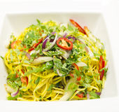 Fresh noodle salad for slimmer Stock Images
