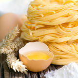 Fresh noodles with egg Stock Images