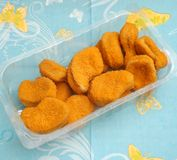 Fresh nuggets Royalty Free Stock Photography