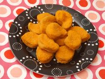 Fresh nuggets. Some fresh nuggets of chicken meat Royalty Free Stock Photography