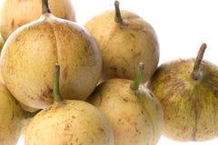 Fresh Nutmegs Isolated Stock Photos