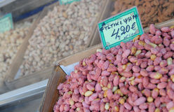 Fresh nuts on a market Stock Photo