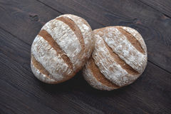 Fresh oat breads Royalty Free Stock Image