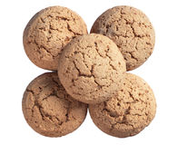 Fresh oatmeal cookies Stock Images