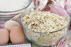 Fresh Oats Stock Photo