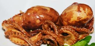 Fresh octopus fish background, close up Stock Photo