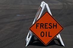 Fresh Oil Sign Stock Image
