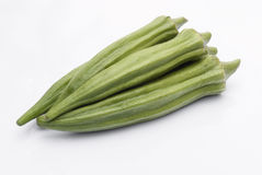 Fresh Okra. Okra (Abelmoschus esculentus) isolated on withe background Stock Photography