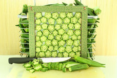 Fresh  okra Royalty Free Stock Image