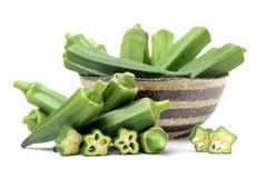 Fresh   Okra. Fresh  Okra   isolated on white background Stock Images