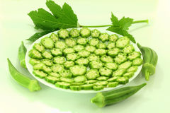 Fresh  okra vegetable Stock Image