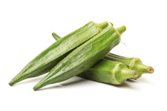 Fresh okra Stock Photos