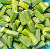 Fresh okras ready to cook Stock Image