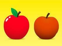 Fresh and old apple. Fresh and old rotting apple stock illustration
