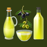 Fresh olive oil decorative poster Royalty Free Stock Photo