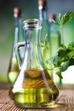 Fresh olive oil, Mediterranean rural theme Stock Images