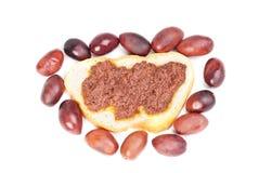 Fresh olive paste made from kalamata olives Stock Photo