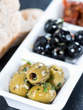 Fresh Olives (black and green) Royalty Free Stock Photography