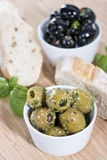 Fresh Olives (black and green) Stock Image