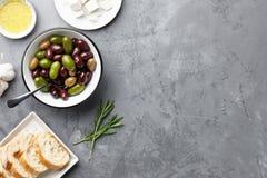 Fresh olives bowl Royalty Free Stock Photos