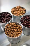 Fresh olives. Of different varieties Royalty Free Stock Photos