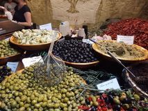 Olive market food france stock photos