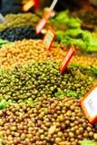 Fresh olives at the market Royalty Free Stock Photos