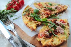 Fresh omelet Stock Images