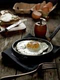Fresh omelette. Home made omelette on dark background stock photography