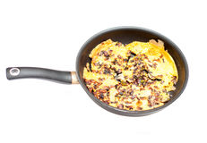 Fresh omelette pan Royalty Free Stock Image