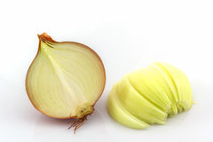 Fresh onion bulbs. Fresh onion bulbs on a white background Stock Photos