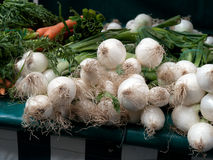 Fresh onion at the farmer's market Royalty Free Stock Photography