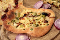 Onion flatbread Royalty Free Stock Photo
