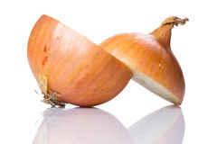Fresh onion. Over white background Royalty Free Stock Photo