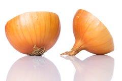 Fresh onion. Over white background Royalty Free Stock Photos